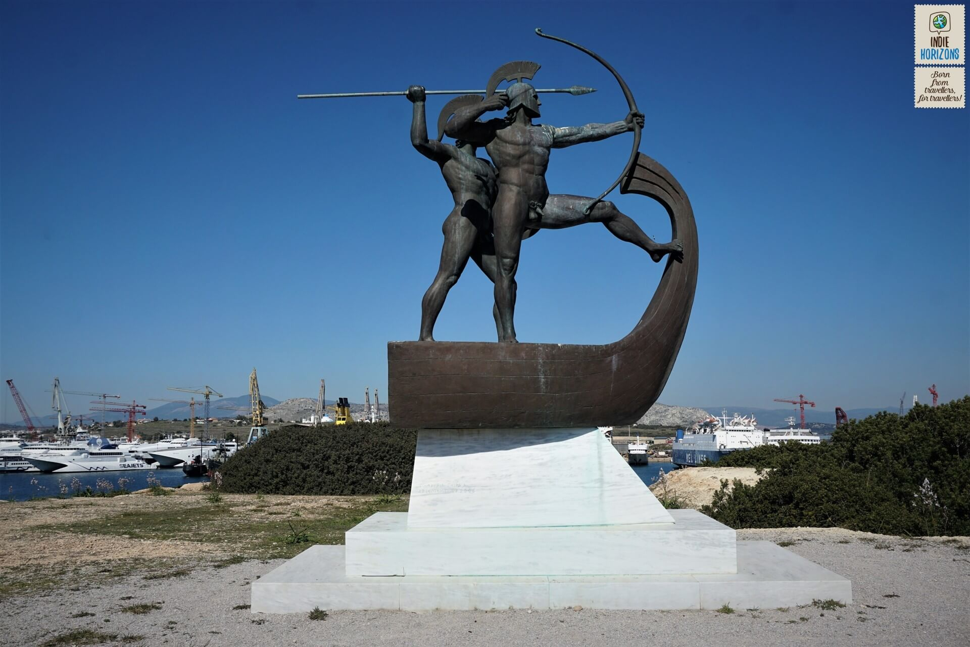 Salamis island is mostly famous for its ancient naval battle.